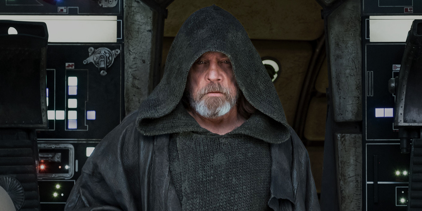 Mark Hamill as Luke Skywalker on the Millennium Falcon in Star Wars The Last Jedi