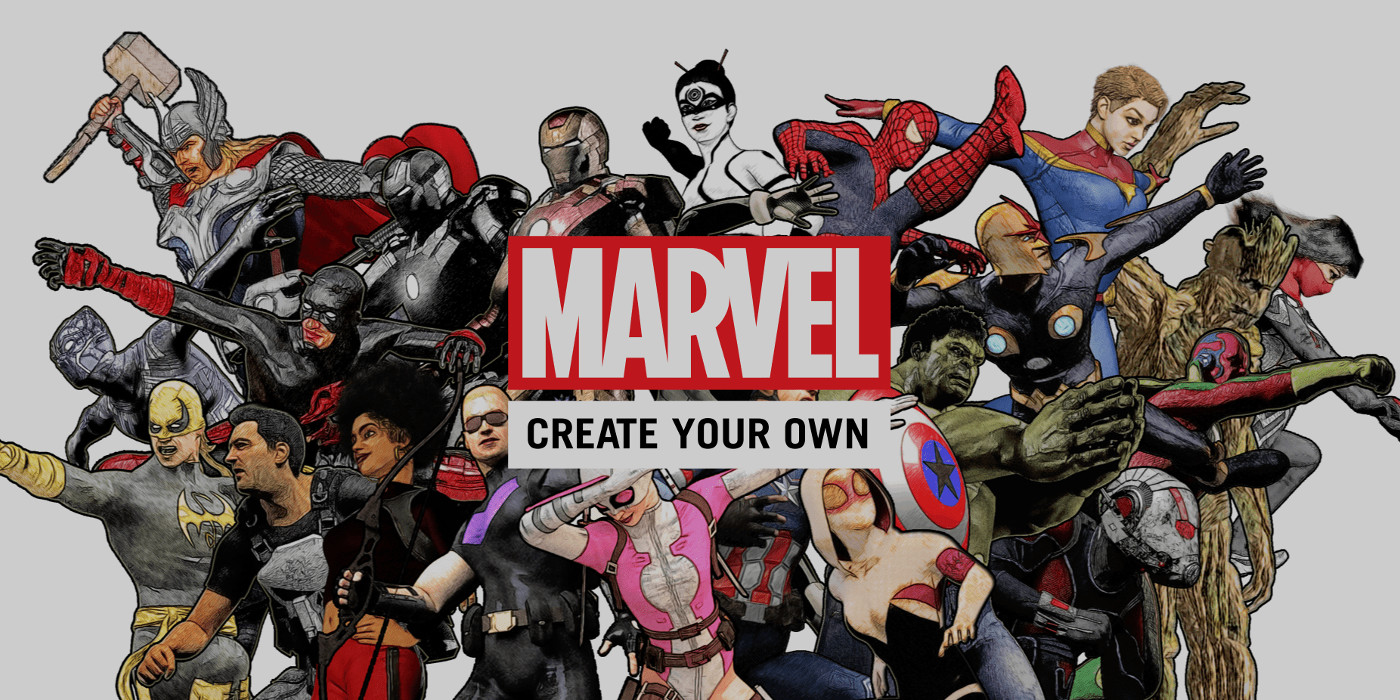 Marvel fans can create their own comics but won 39 t want to for Draw your own logo