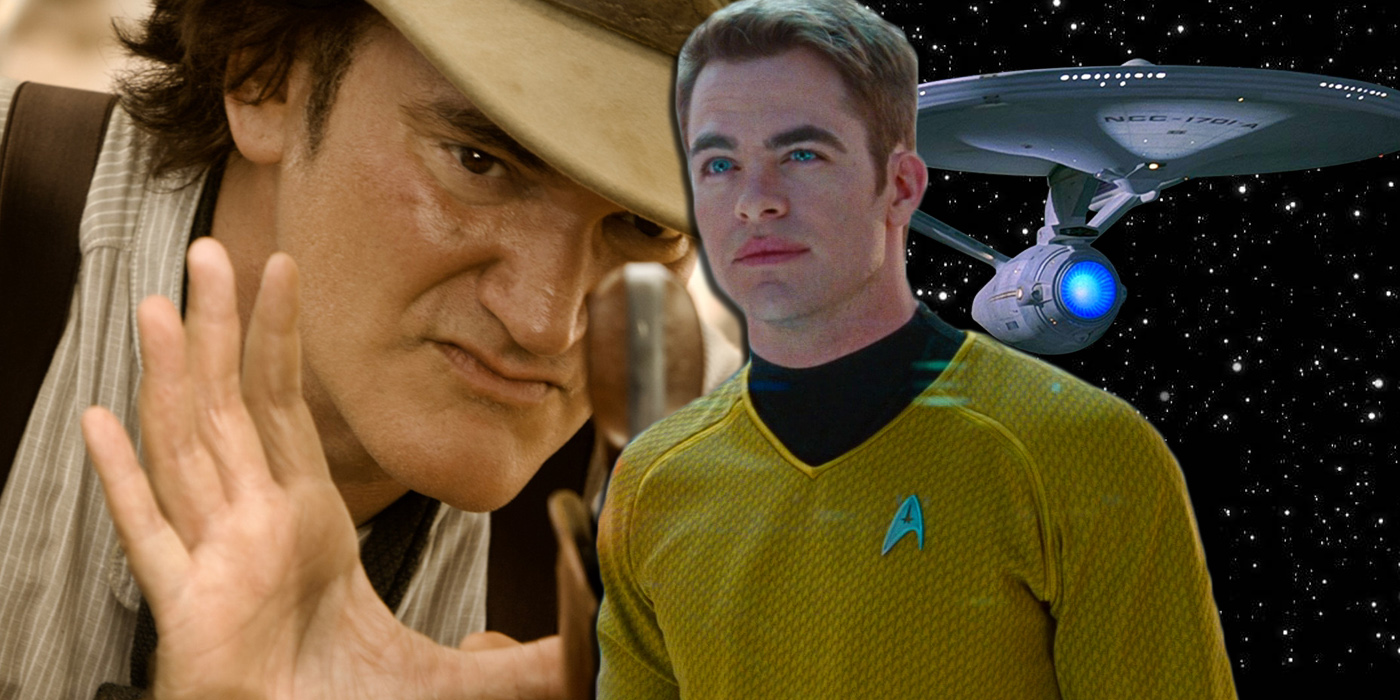 Quentin Tarantino and Kirk from Star Trek