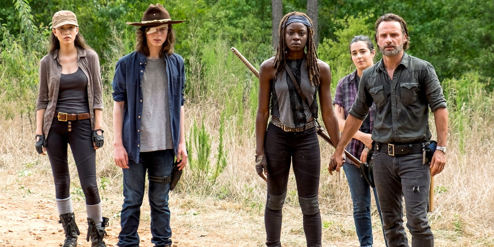 Rosita Carl Michonne Tara and Rick in The Walking Dead Walking Dead Season 9: Every Update You Need To Know