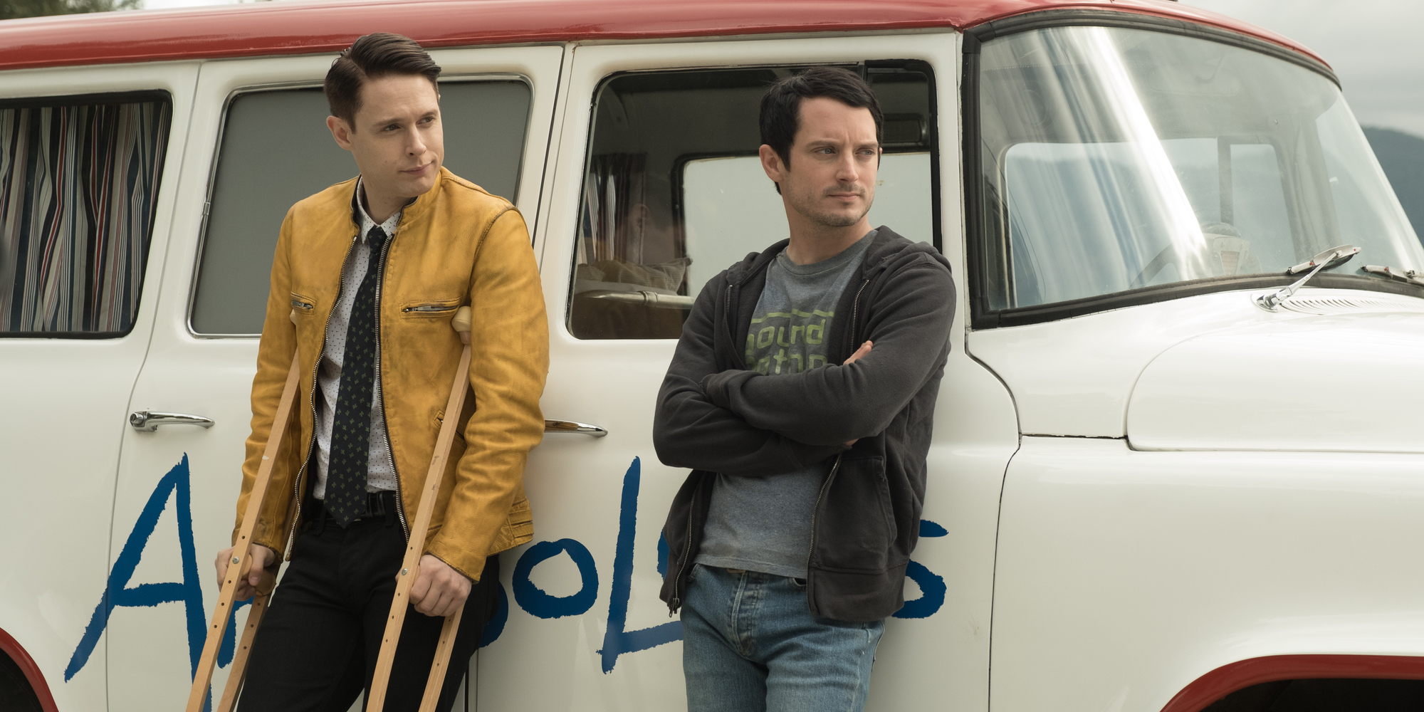 Samuel Barnett and Elijah Wood in Dirk Gently