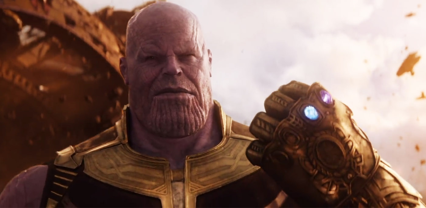 Thanos wears the Infinity Gauntlet in Avengers Infinity War
