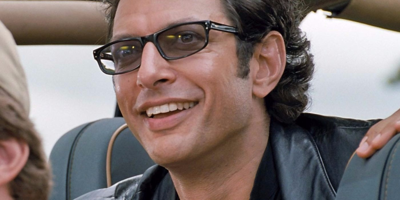 Jeff Goldblum as Dr. Ian Malcolm in Jurassic Park.