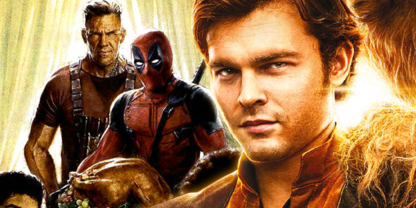 Alden Ehrenreich as Han Solo and Cable with Deadpool 2