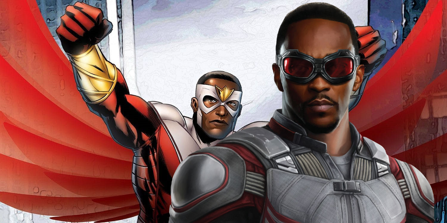 Avengers anthony mackie wants falcon 39 s red white costume - Faucon avengers ...