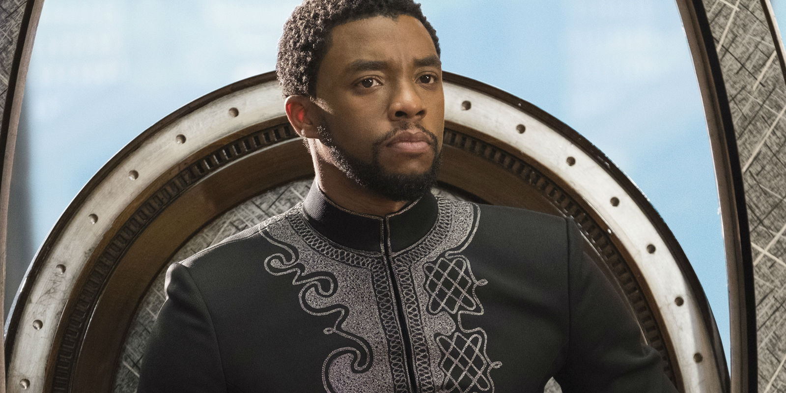 Chadwick Boseman as King T'Challa in Black Panther