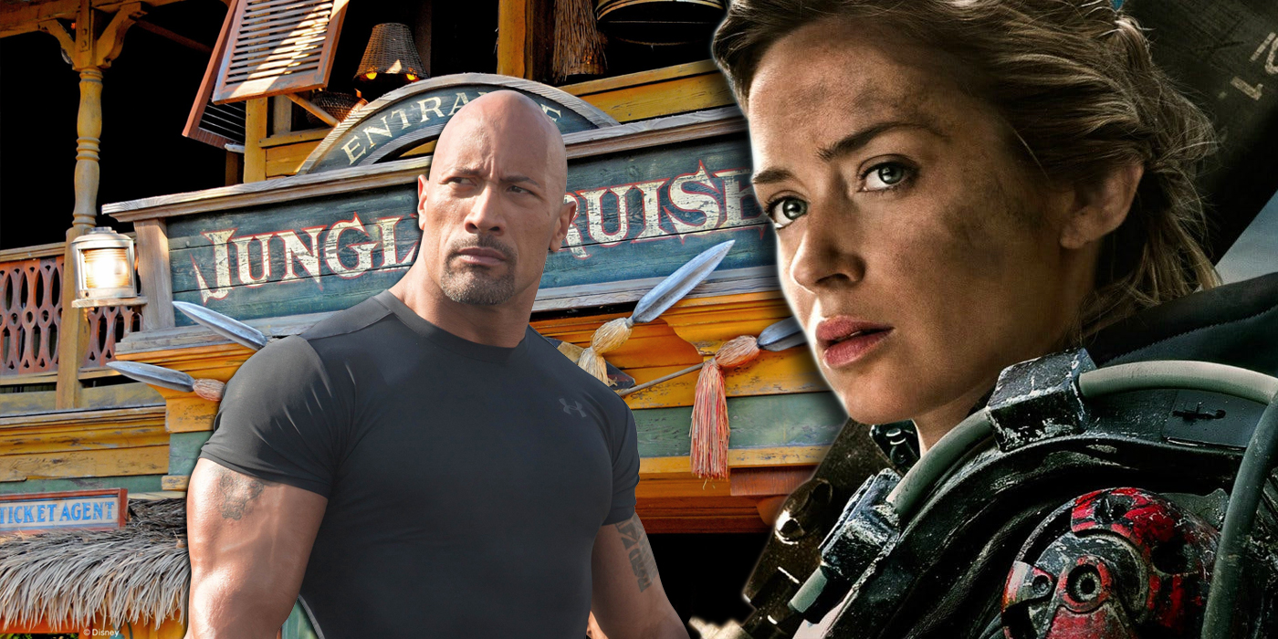 Emily Blunt and Dwayne Johnson and Jungle Cruise