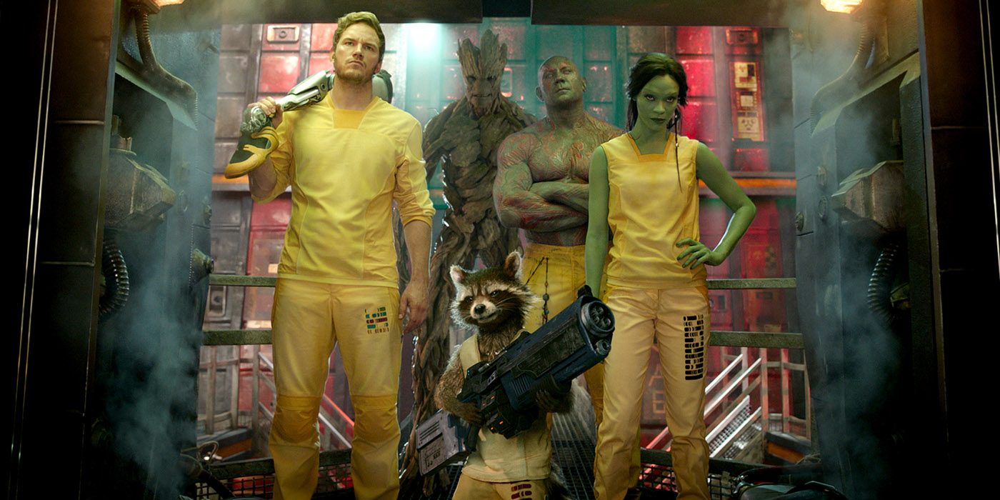 Guardians of the Galaxy Prison Scene - Chris Pratt, Zoe Saldana, and Dave Bautista