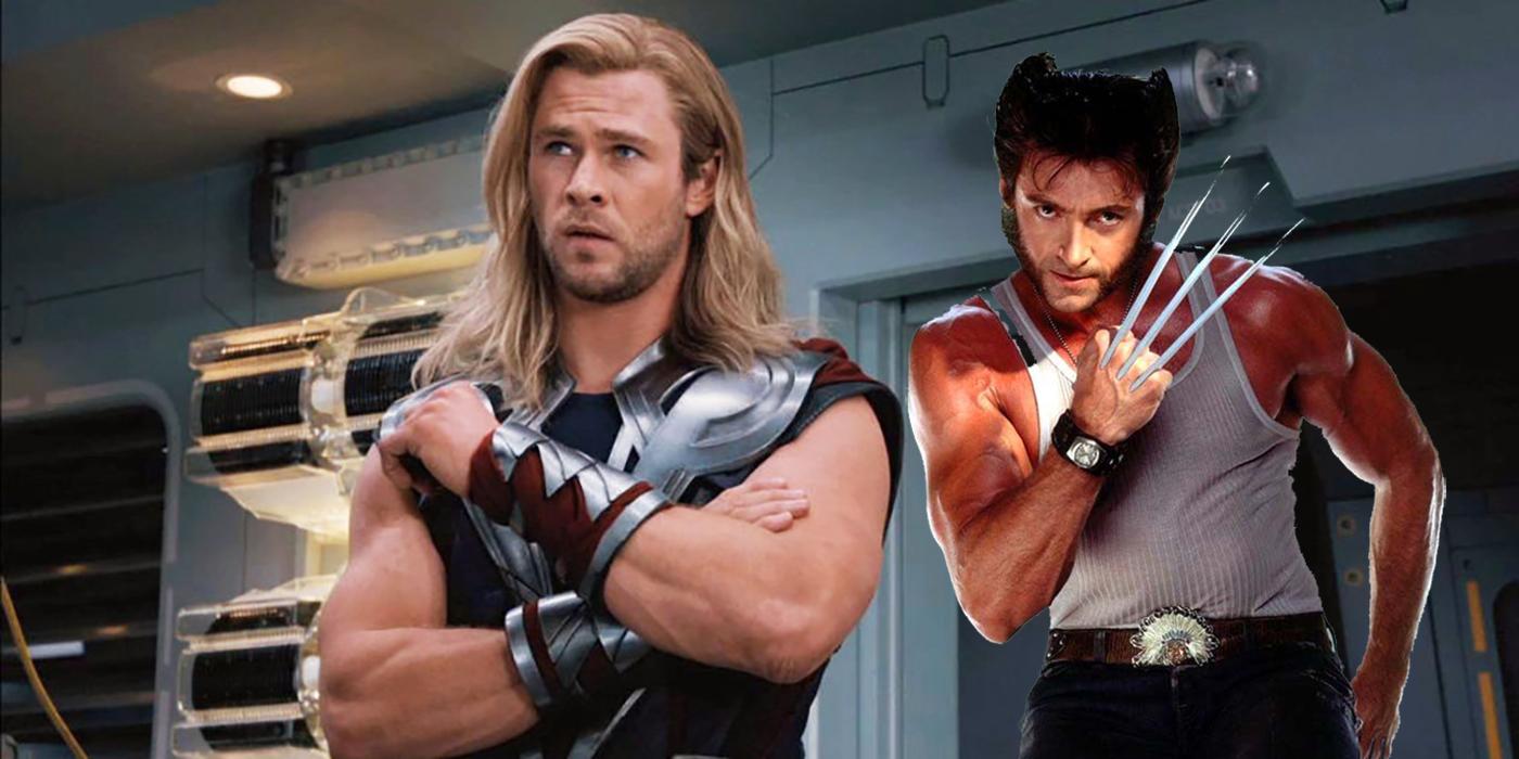 Jackman Hemsworth as Thor and Wolverine