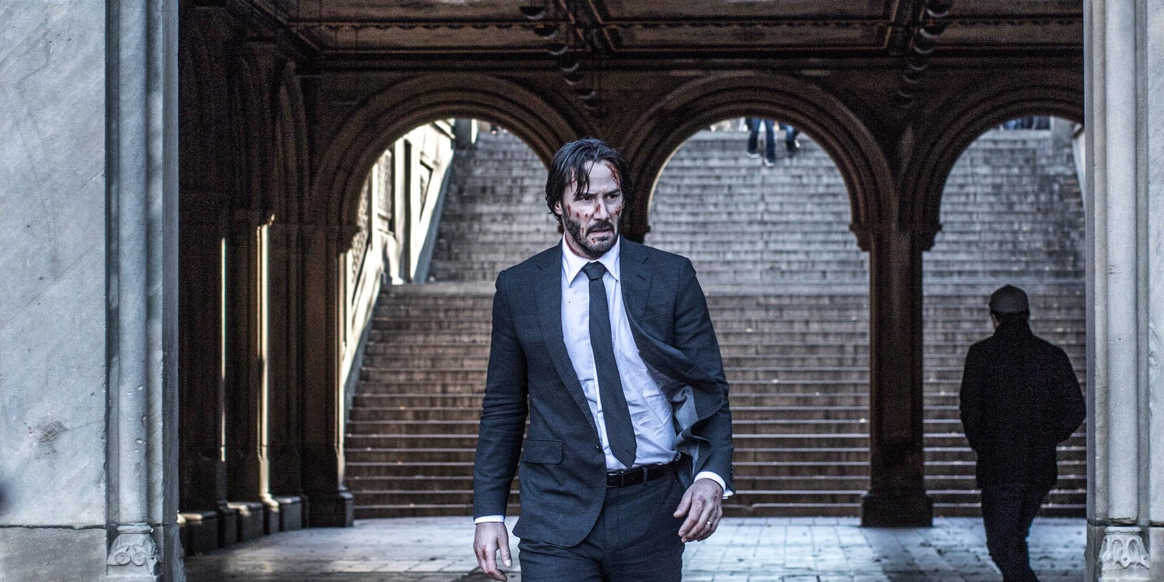Keanu Reeves as John Wick in John Wick Chapter 2
