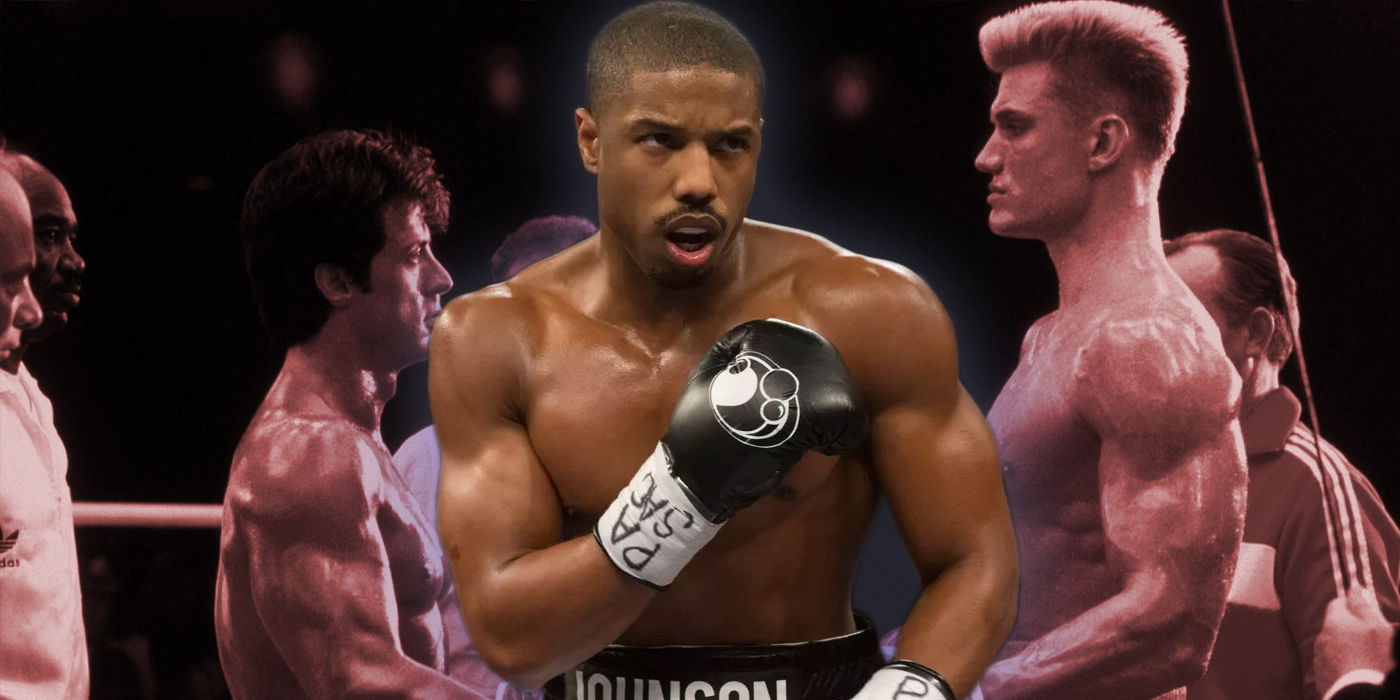 Michael B Jordan as Adonis Creed and Rocky IV
