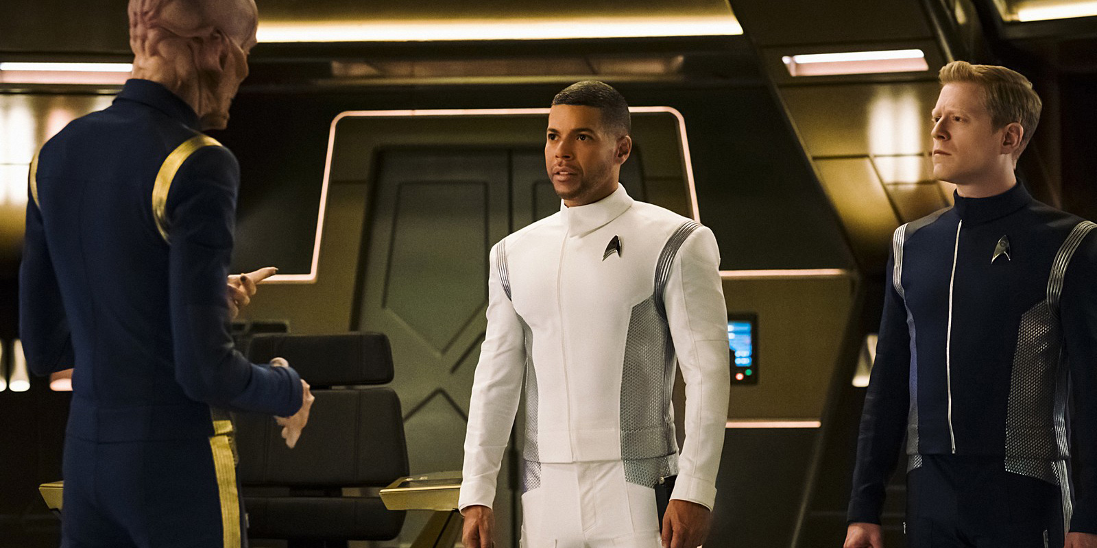 Culber, Saru, and Stamets in Star Trek: Discovery