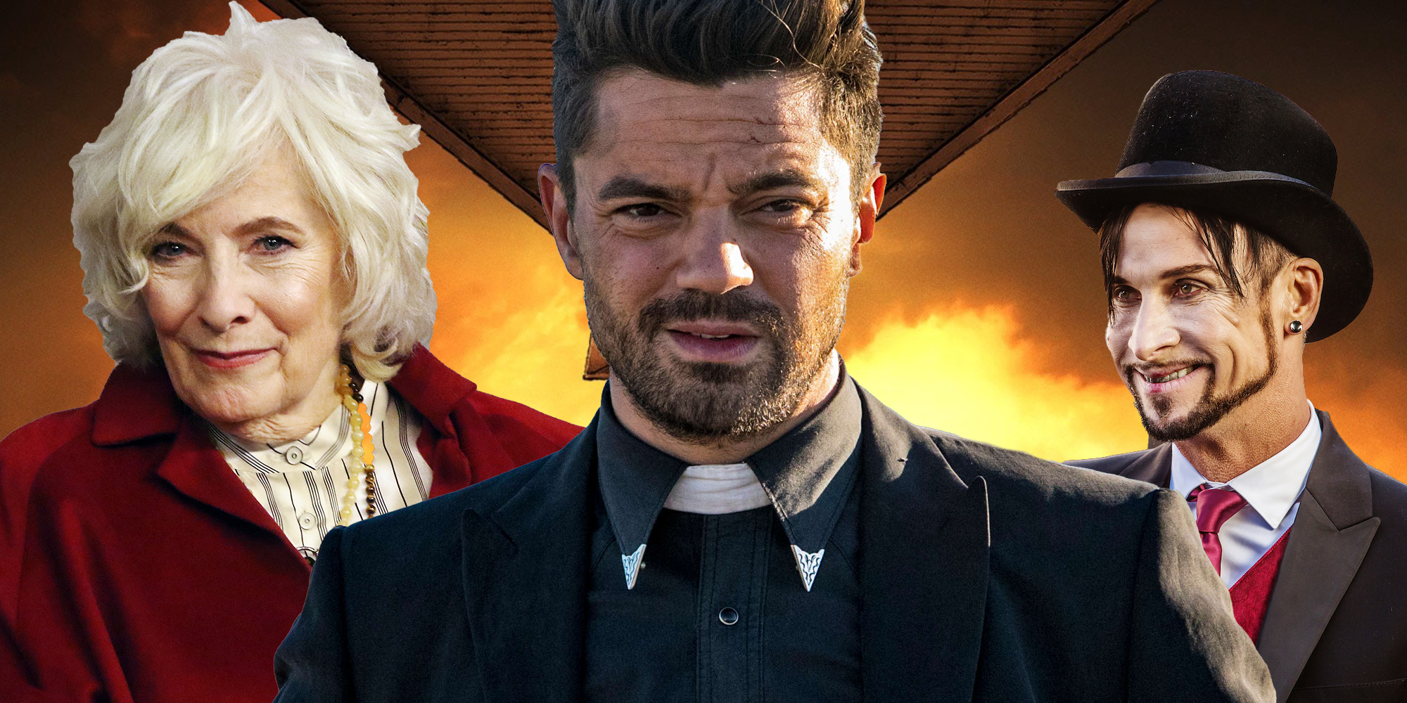 Betty Buckley Dominic Cooper and Colin Cunningham Preacher Season 3