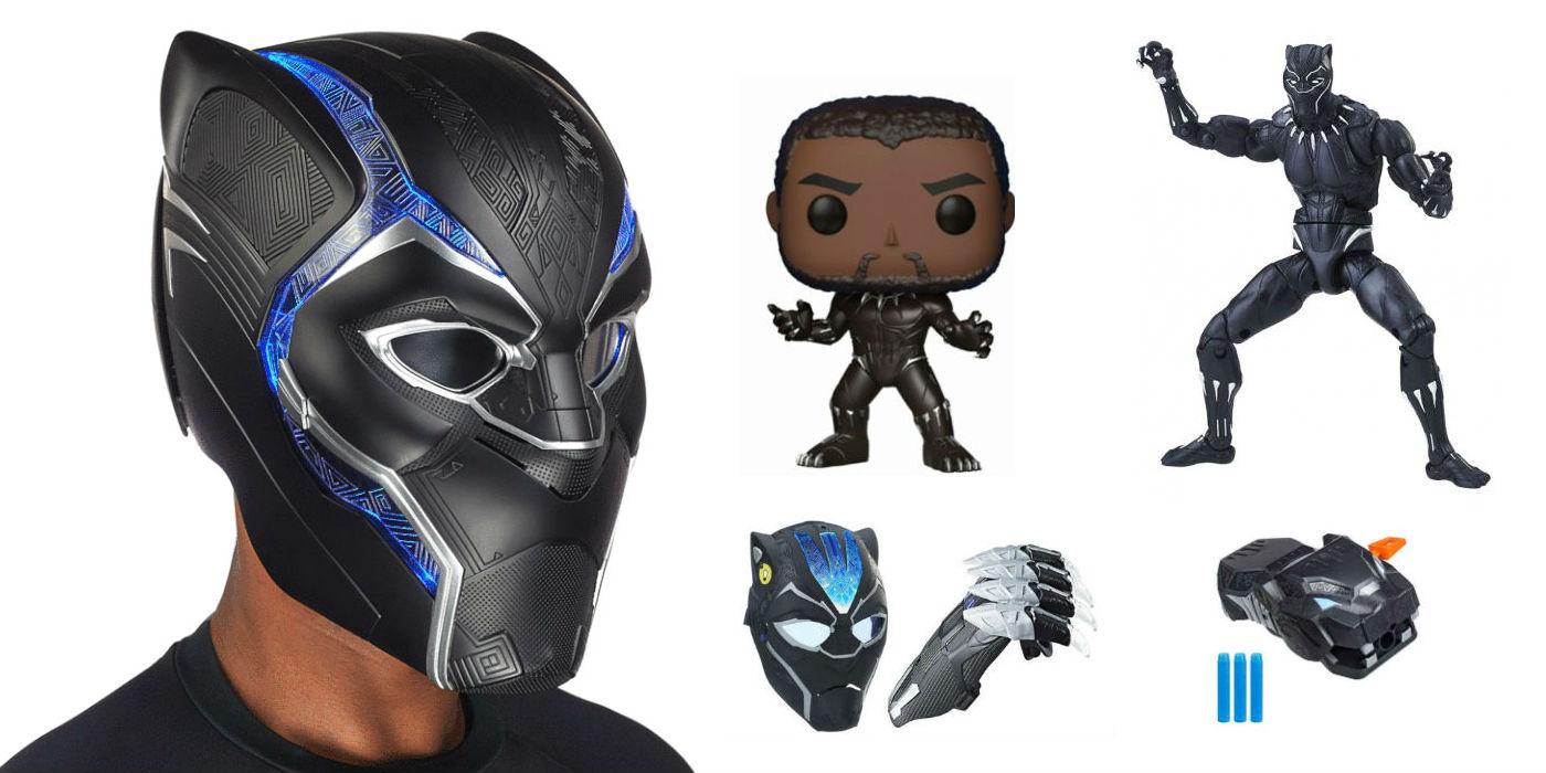 Black Panther merchandise (photos: Hasbro, Funko)