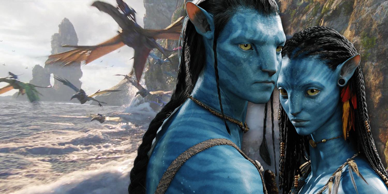 Jake Sully and Neytiti in Avatar