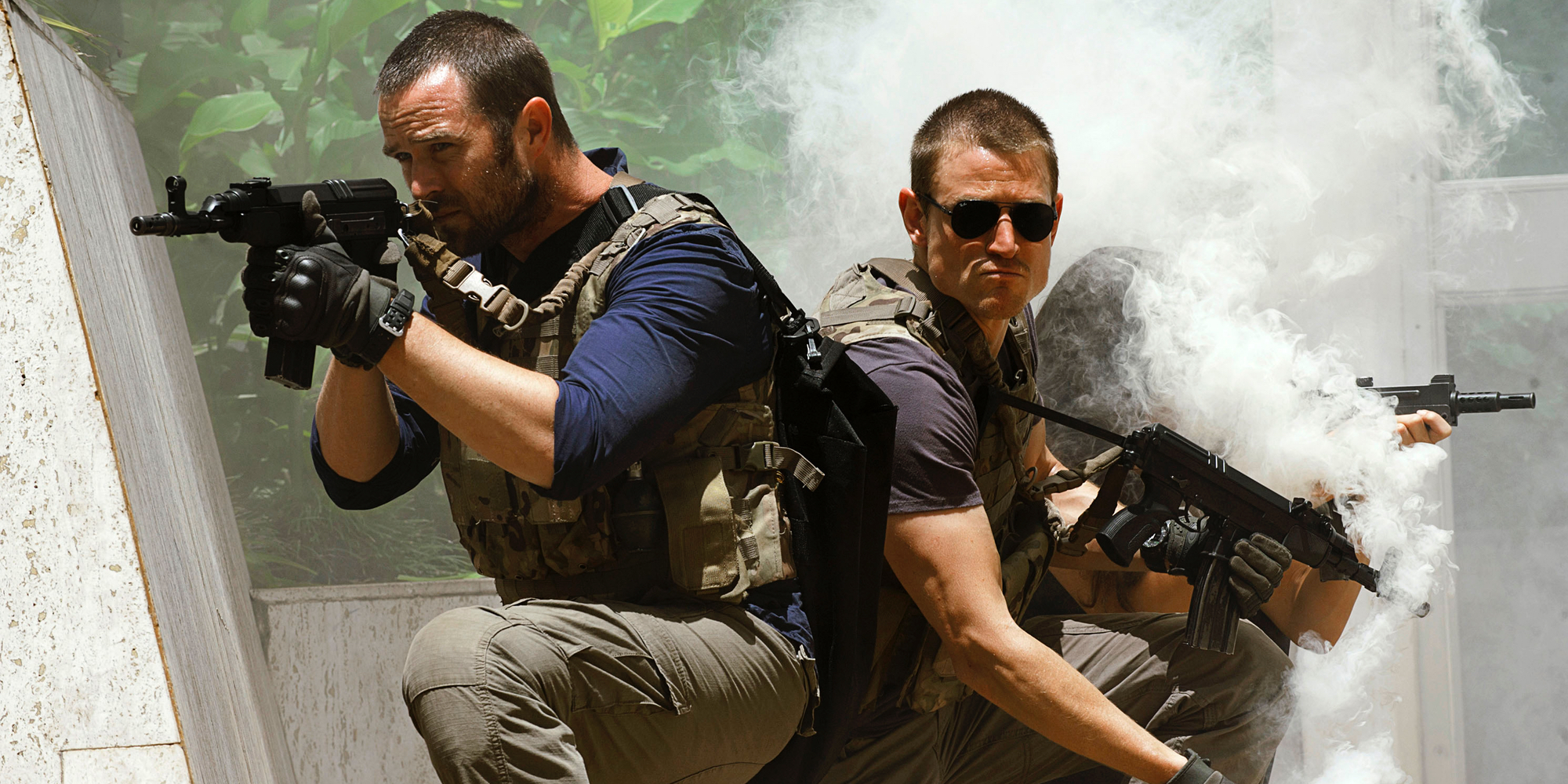 Sullivan Stapleton and Phlip Winchester in Strike Back