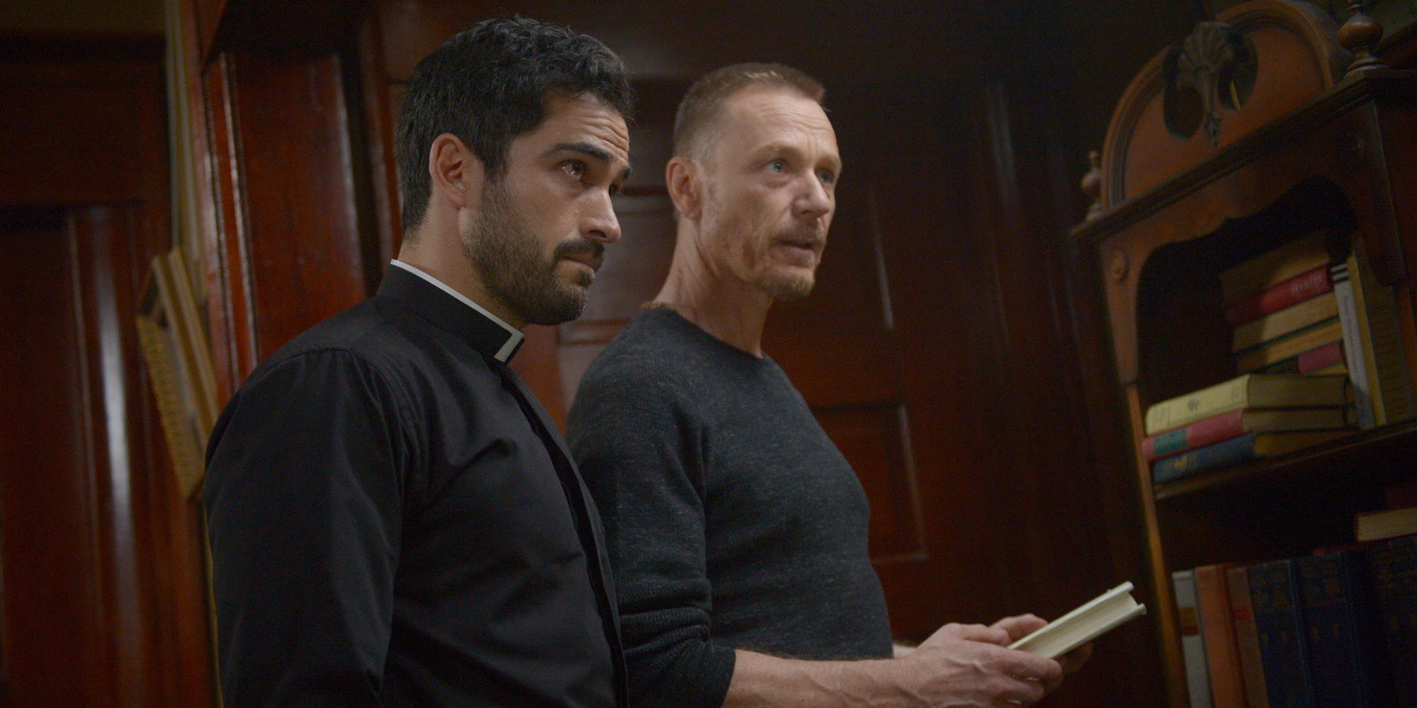 Alfonso Herrera and Ben Daniels in The Exorcist Season 2 FOX