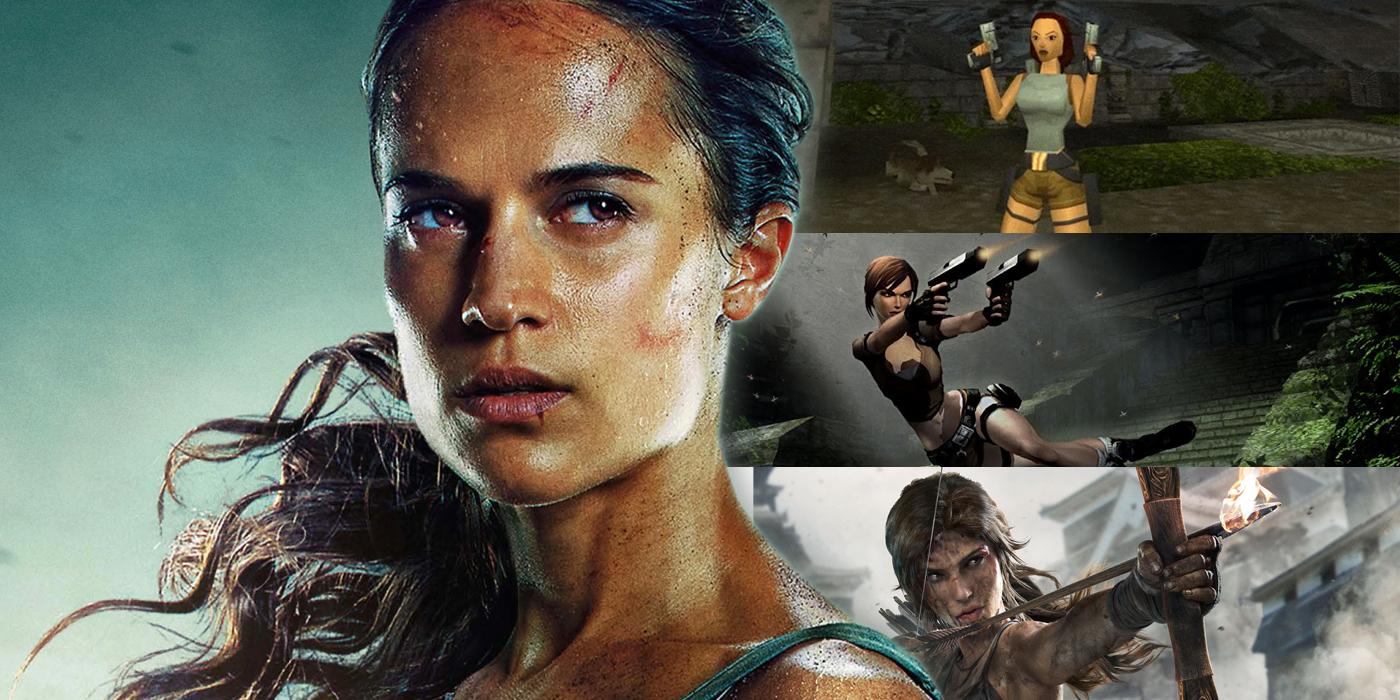 Alicia Vikander as Lara Croft and Previous Versions of Tomb Raider