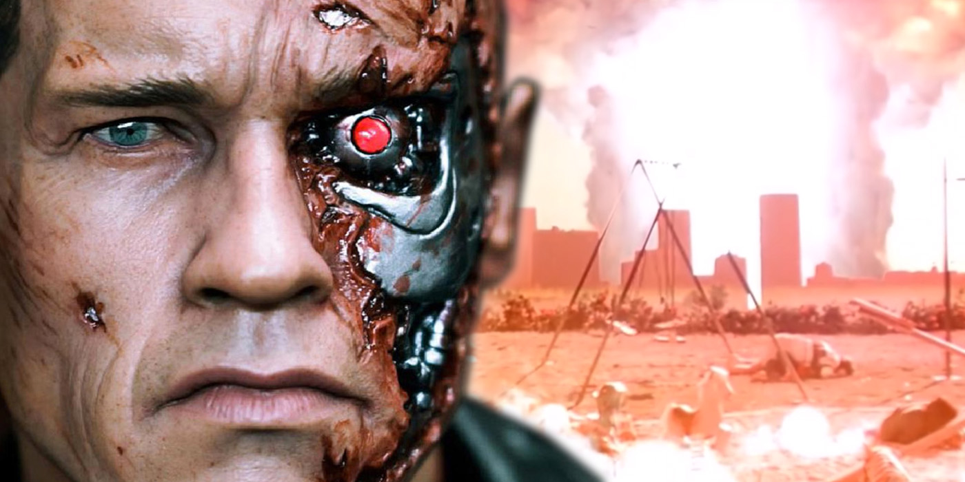 Arnold Schwarzenegger as the Terminator and Judgement Day