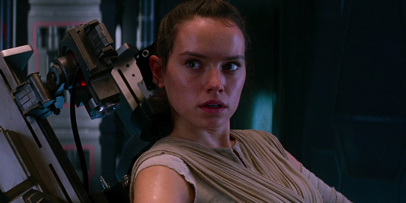 Daisy Ridley as Rey in Star Wars The Force Awakens