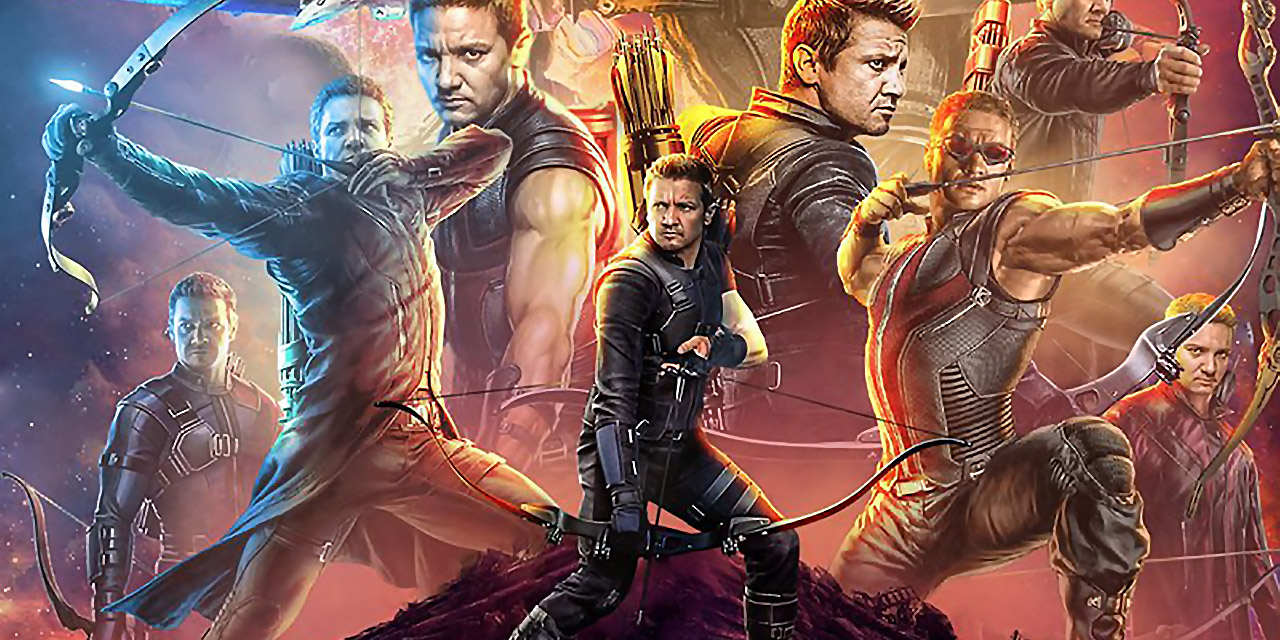 hawkeye has his own thing going on in avengers: infinity war