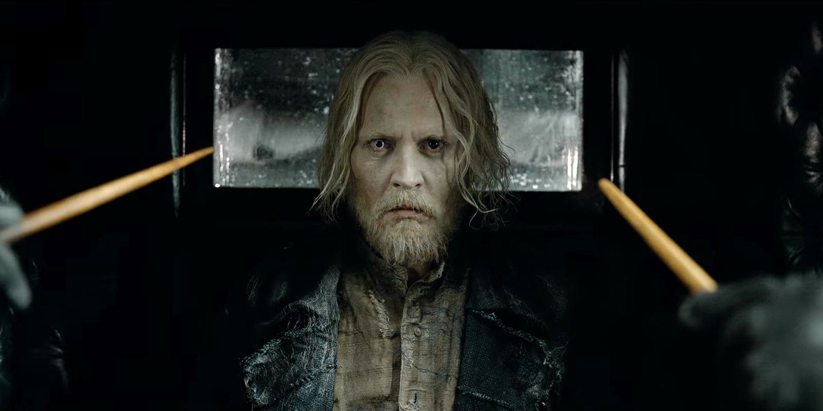 Johnny Depp as Grindelwald in Fantastic Beasts 2