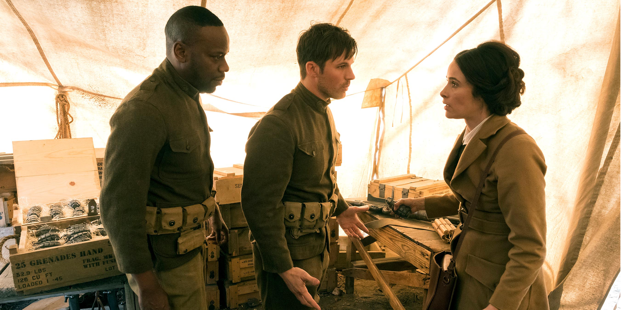 Malcolm Barrett as Rufus Carlin, Matt Lanter as Wyatt Logan, Abigail Spencer as Lucy Preston Timeless