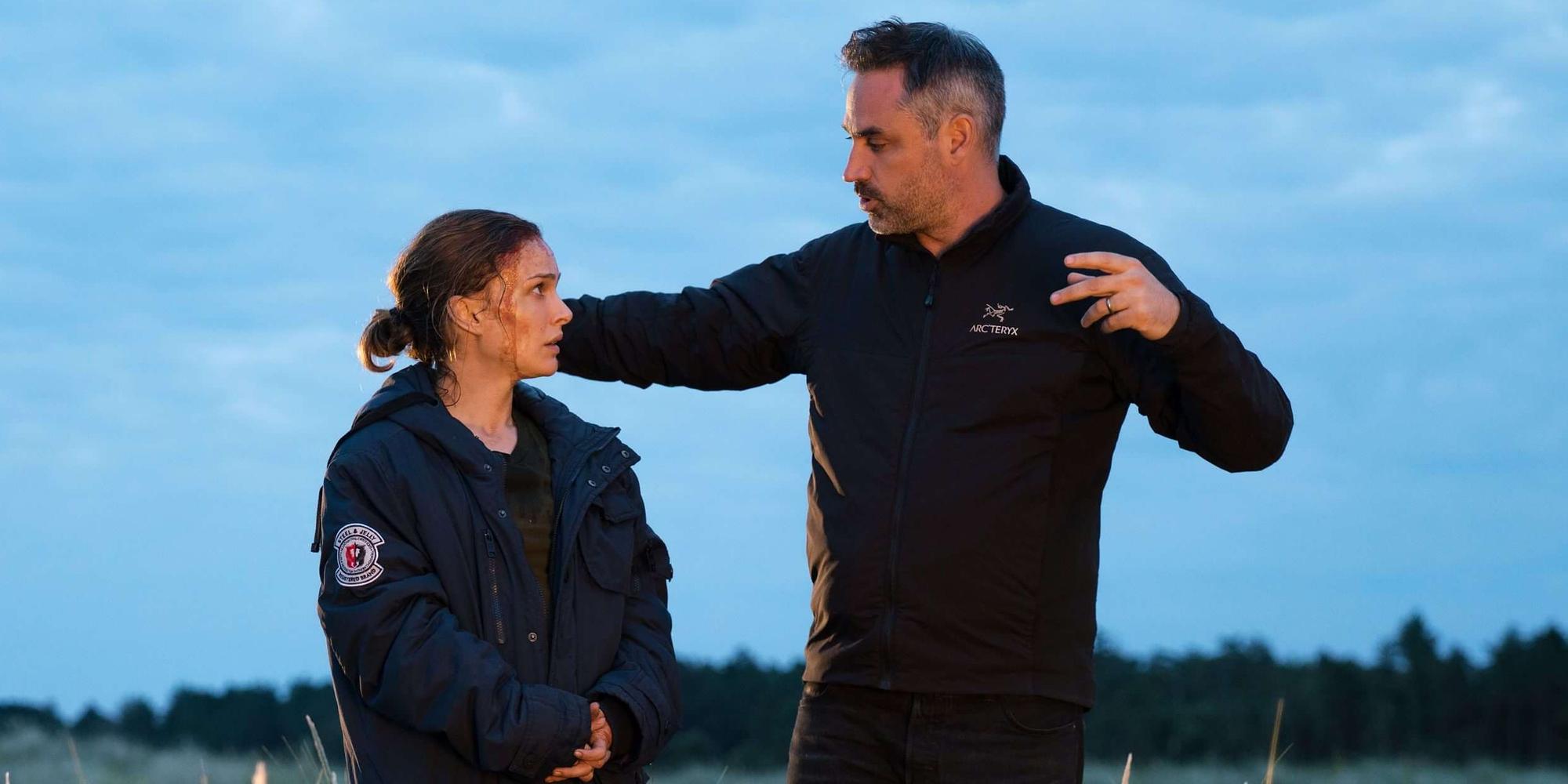 Natalie Portman and Alex Garland in Annihilation
