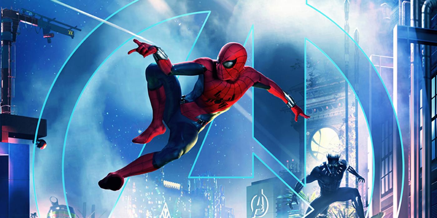 Spider-Man Disney Attraction Poster