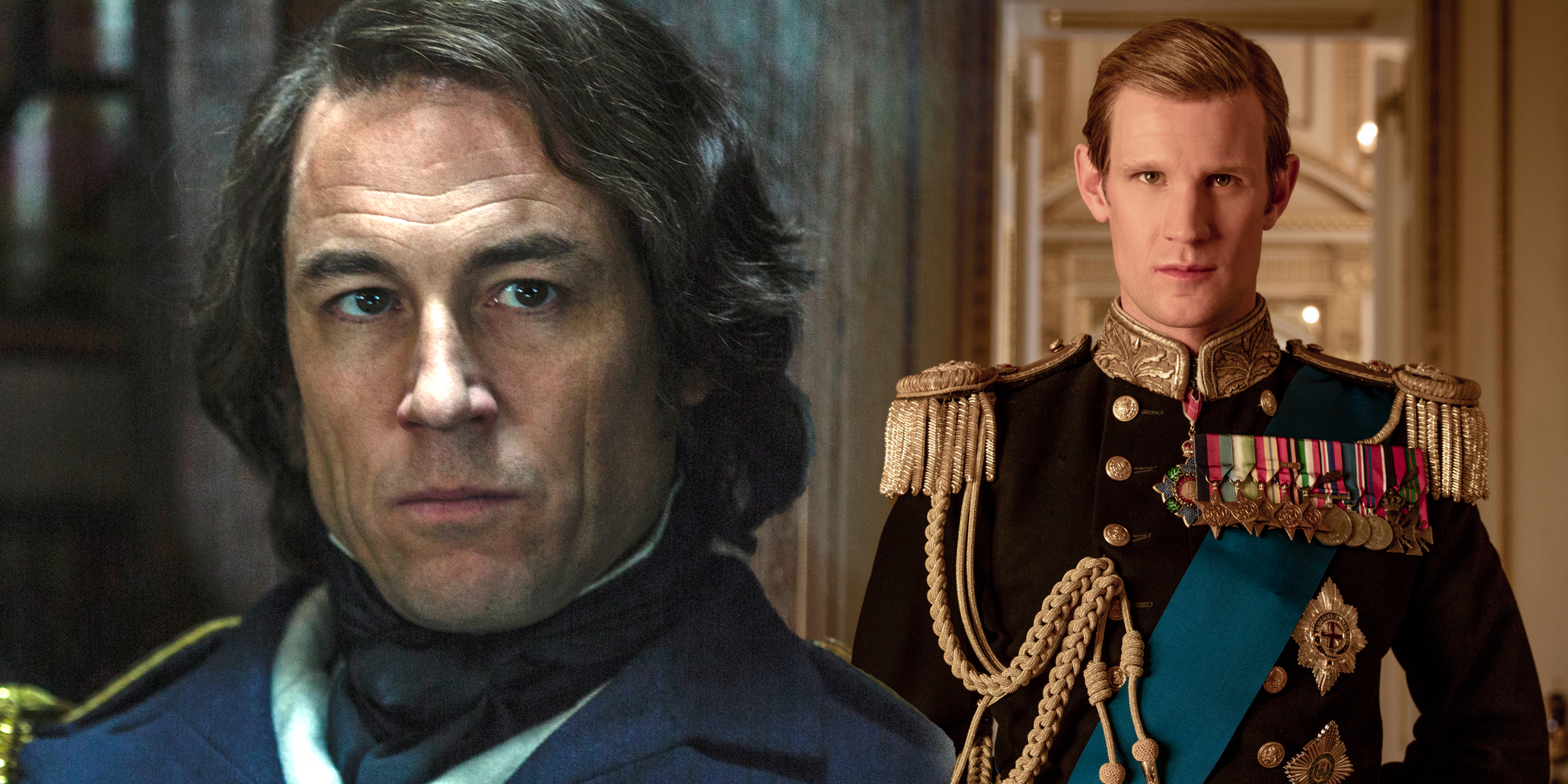 Tobias Menzies and Matt Smith The Crown