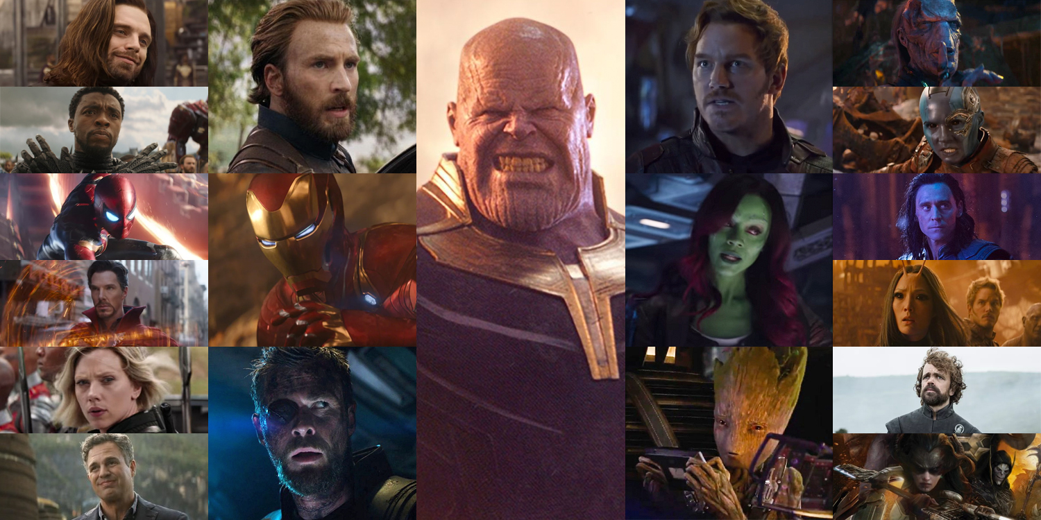 avengers: infinity war - complete cast and character guide