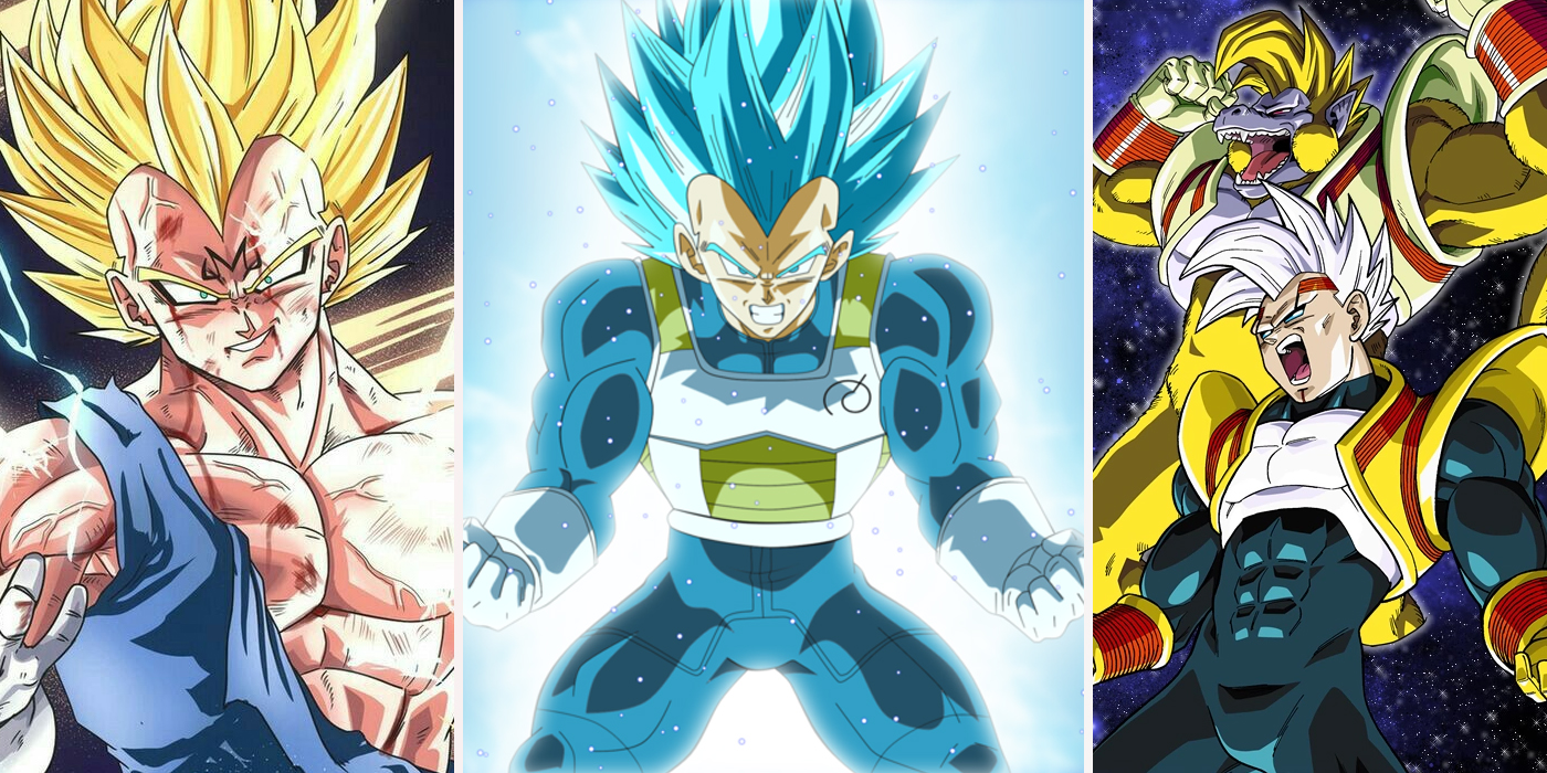 Dragon ball vegeta s 9 best and 9 worst transformations ranked - Vegeta all forms ...