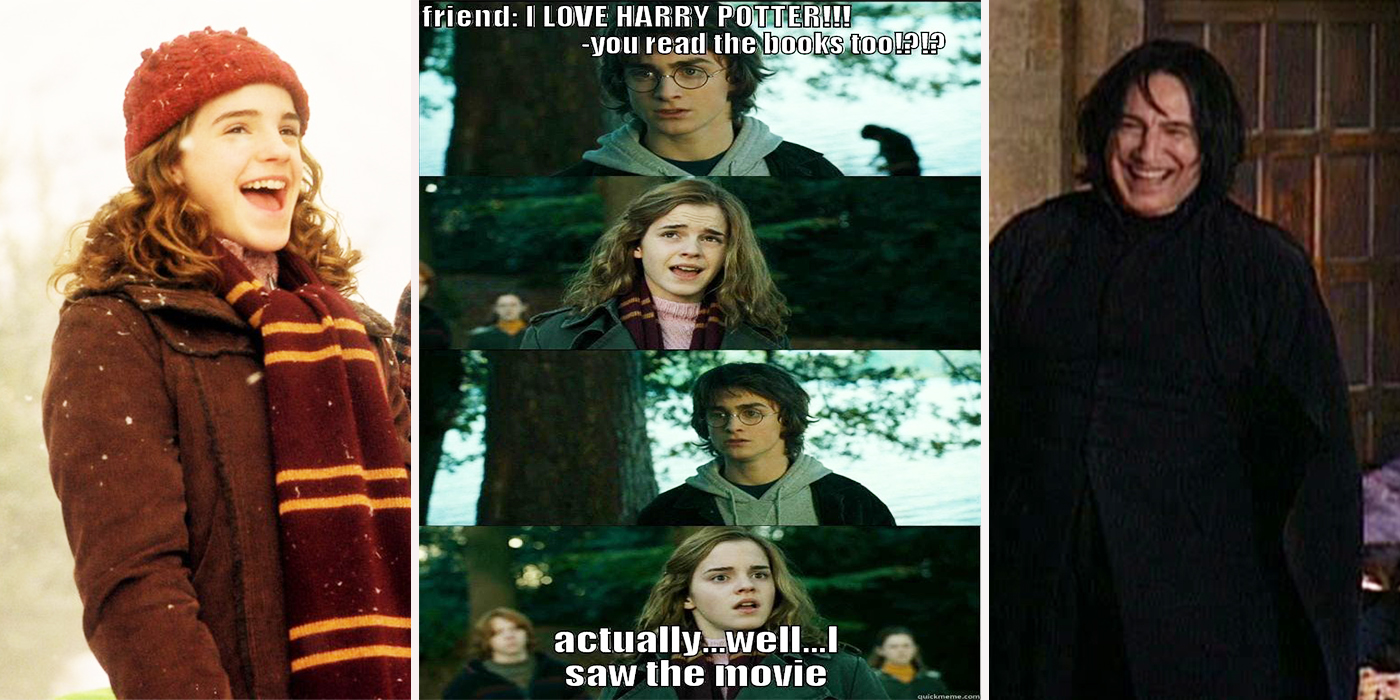 Harry Potter Book Movie : Harry potter hilarious book vs movie memes only true