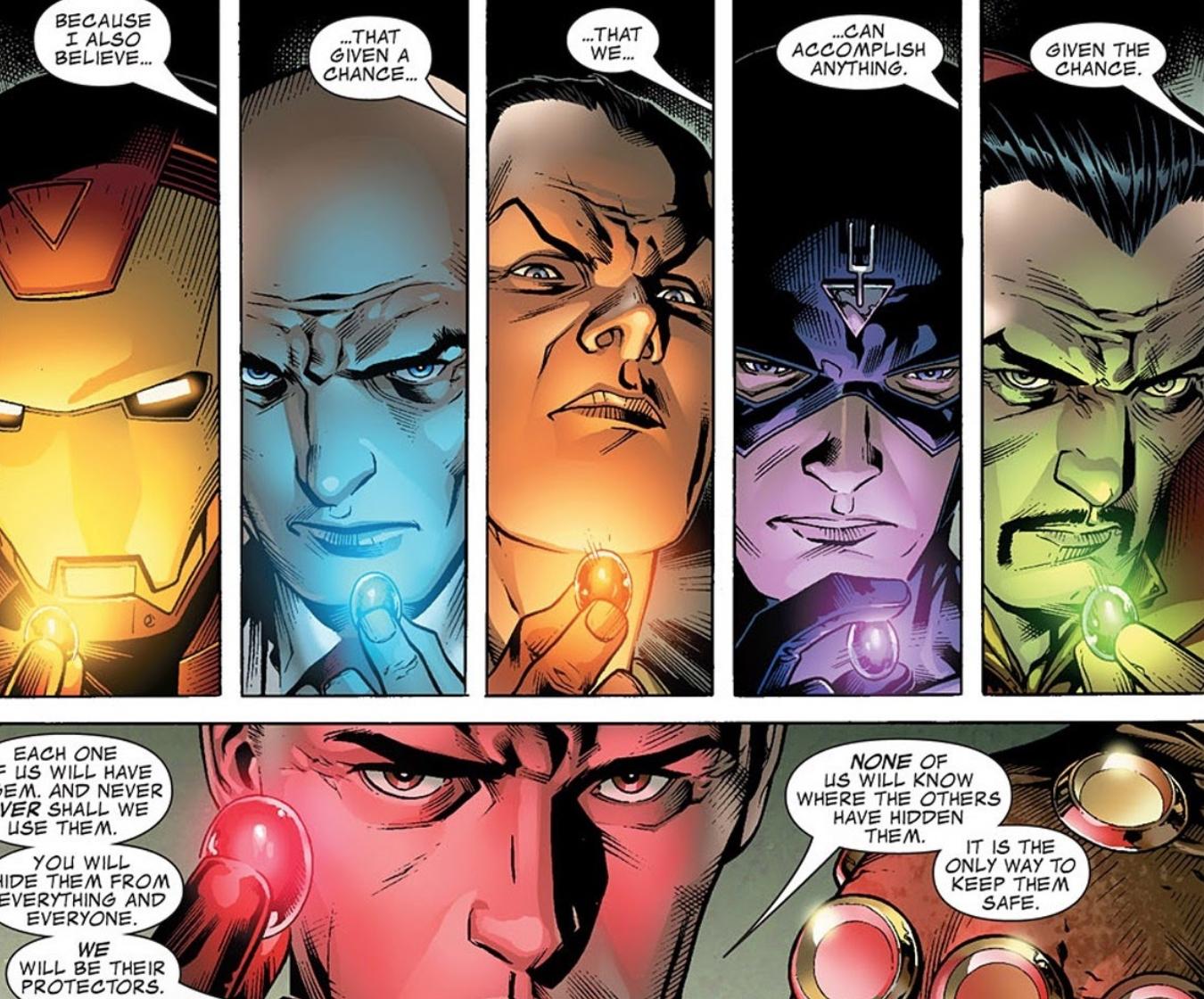 4 Reality Gem Infinity Stones Split Up In Marvel Comics