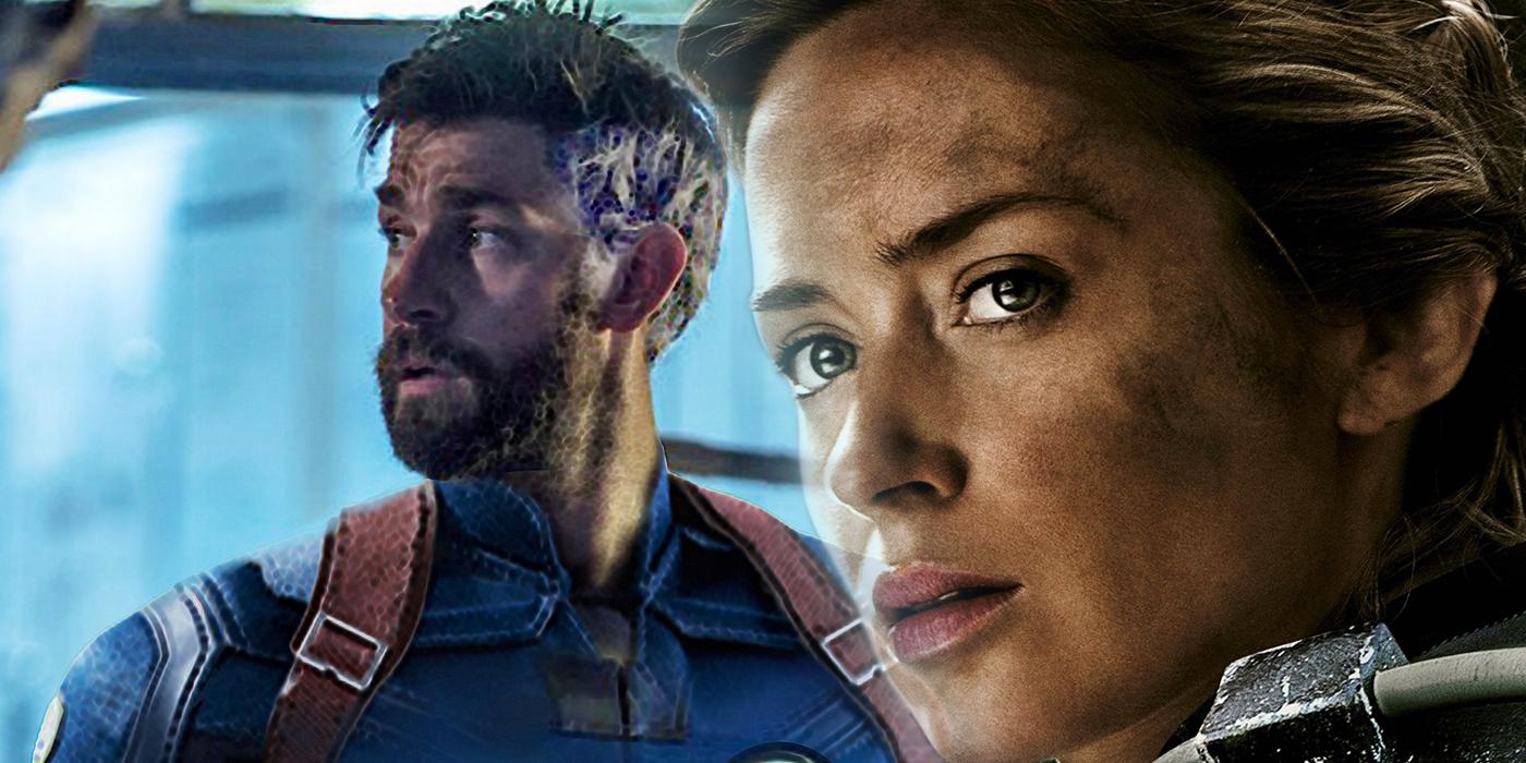 John Krasinksi and Emily Blunt in Fantastic Four