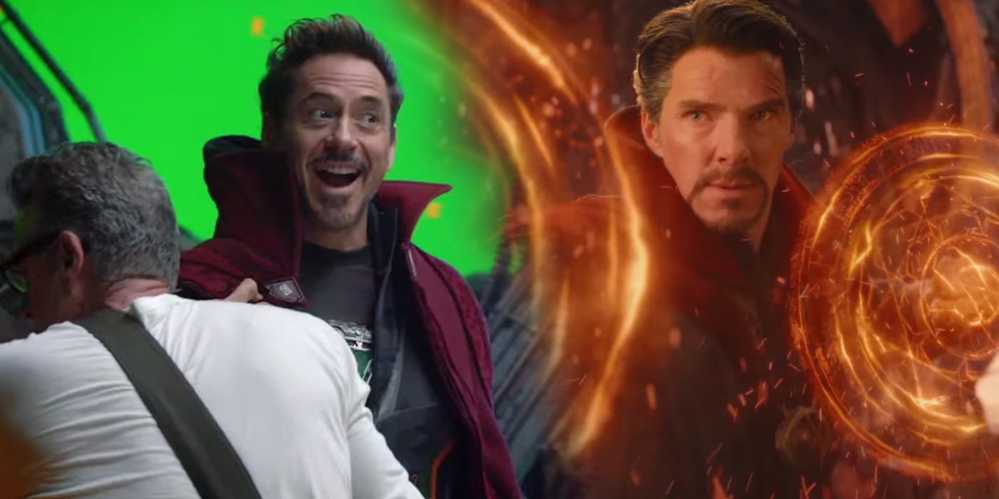 Robert Downey Jr in Doctor Strange's Cloak in Avengers Infinity War