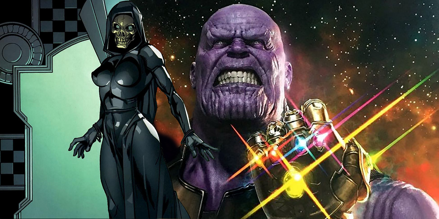 Thanos Lady Death Avengers- Infinity War