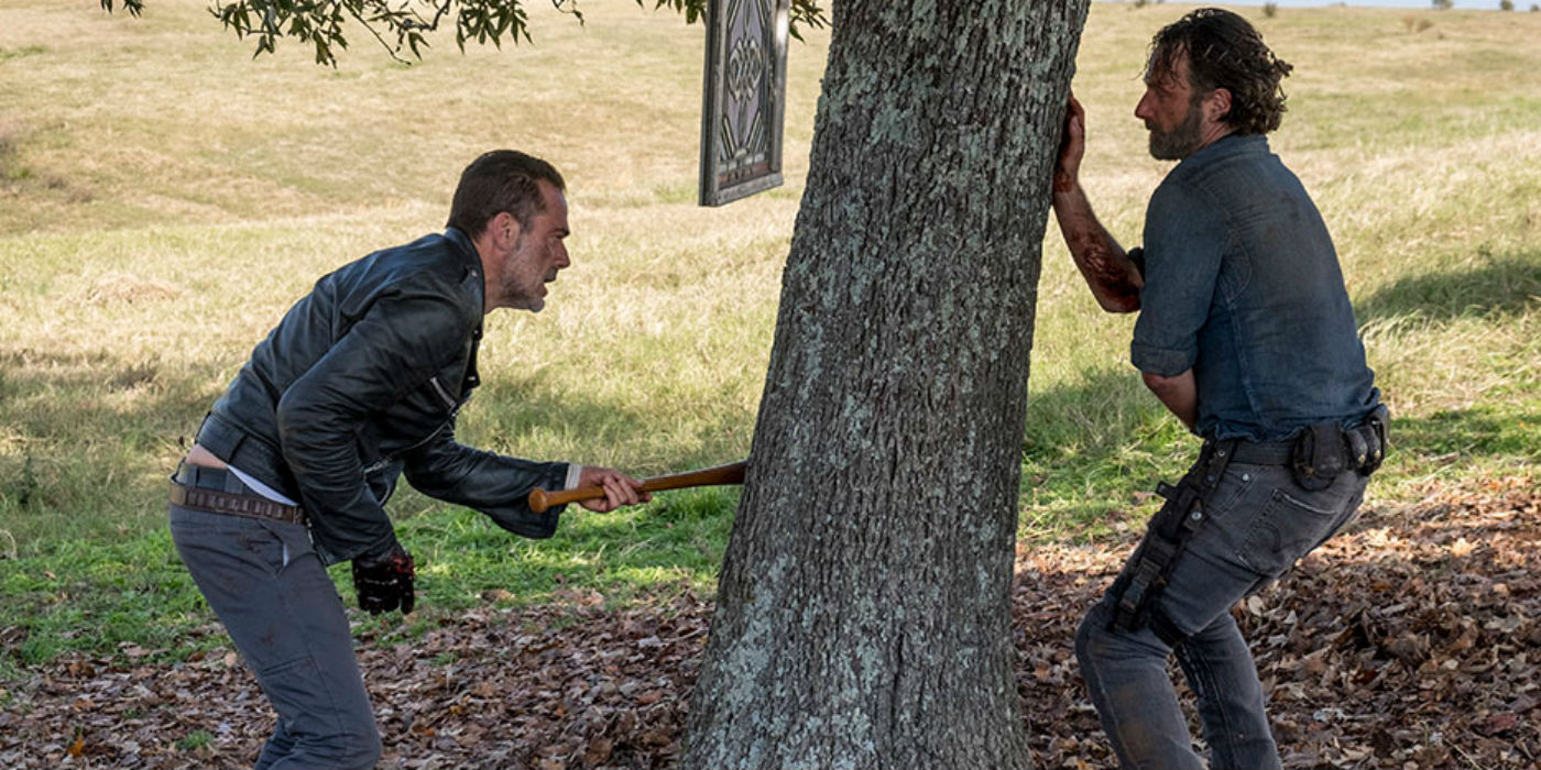 The Walking Dead Season 8 Finale Rick vs Negan