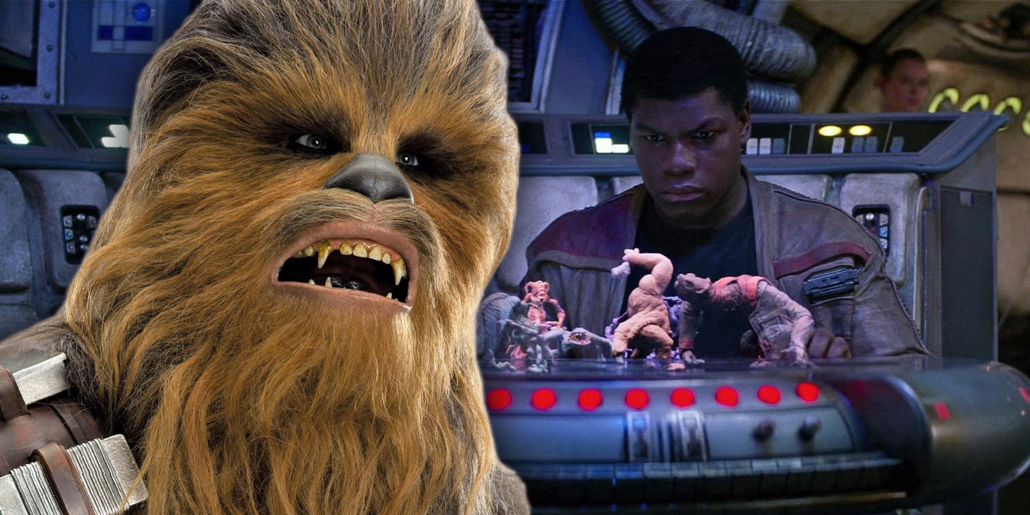 Chewbacca and Finn in Solo and The Force Awakens