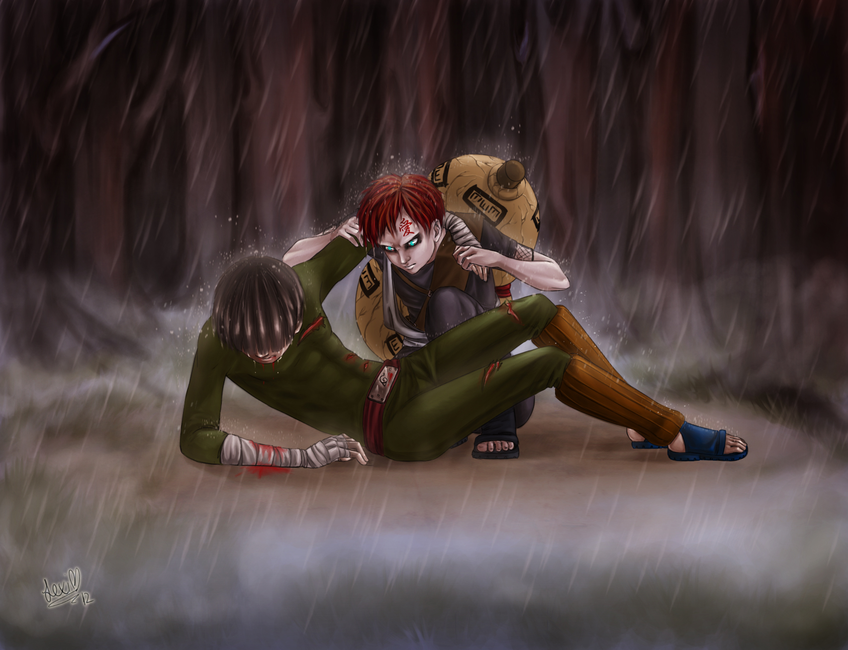 20 Fan Art Designs Of Unexpected Naruto Couples | ScreenRant Gaara And Lee