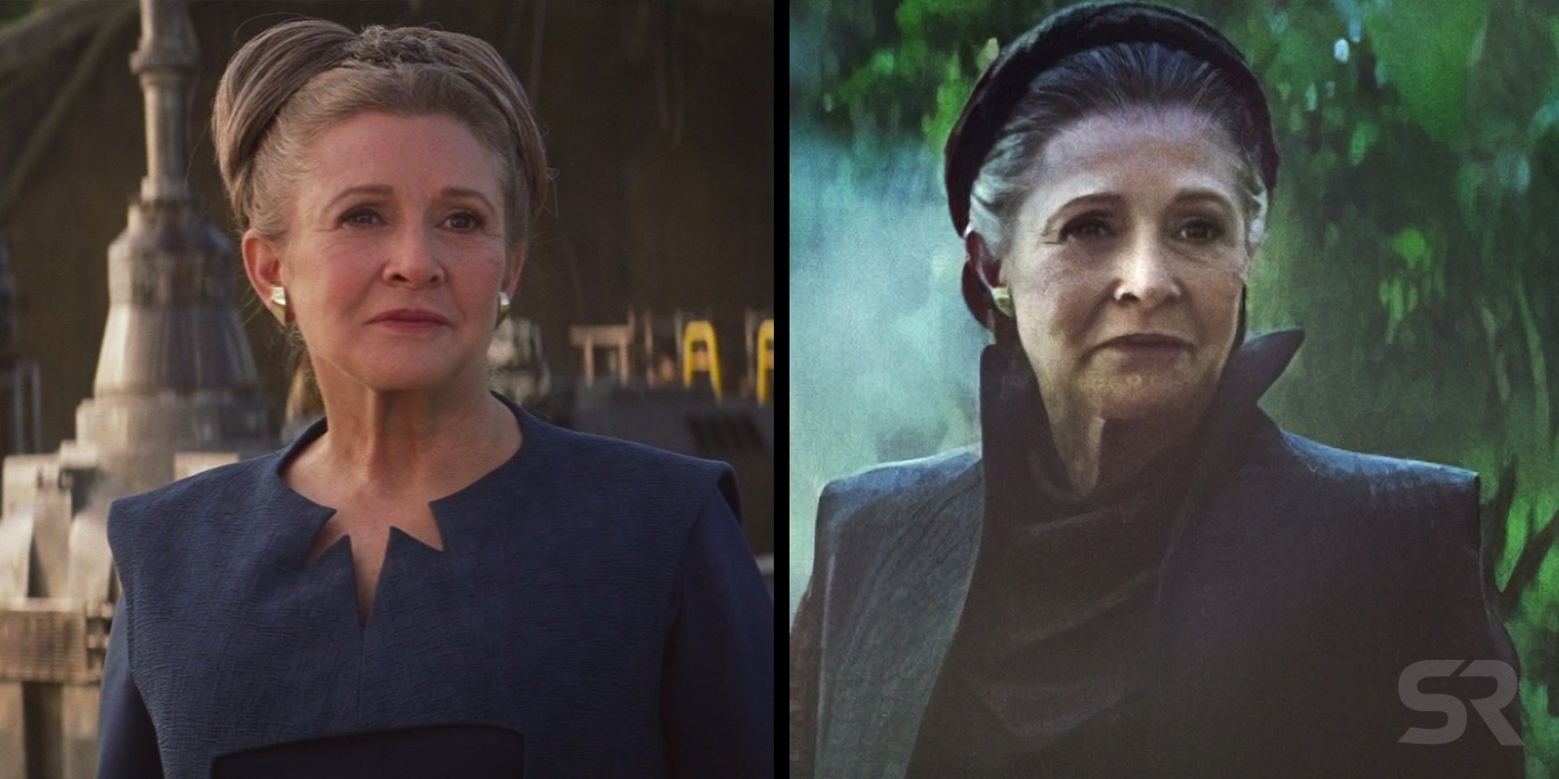Star Wars 9 Leia Image Shows How Force Awakens Footage Is Being Altered