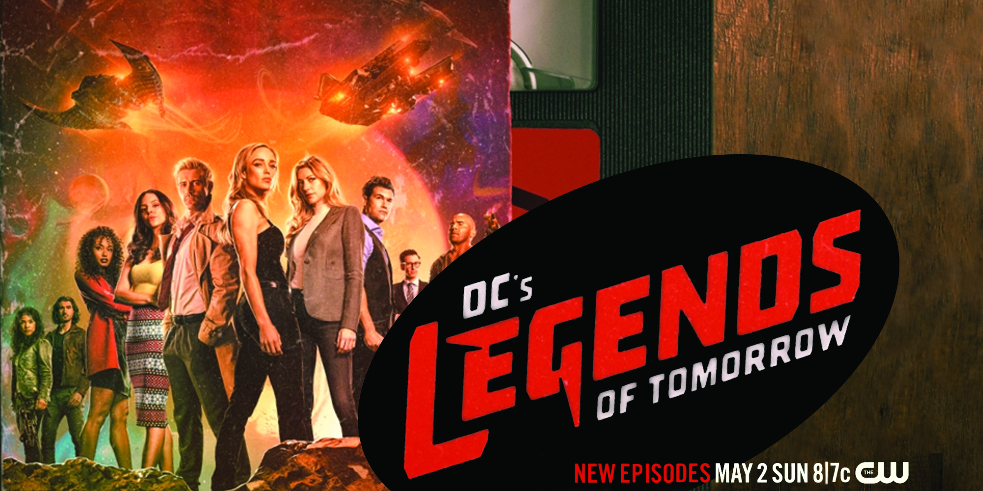 Cutdown of the 90s Style Poster for DCs Legends of Tomorrow Season 6