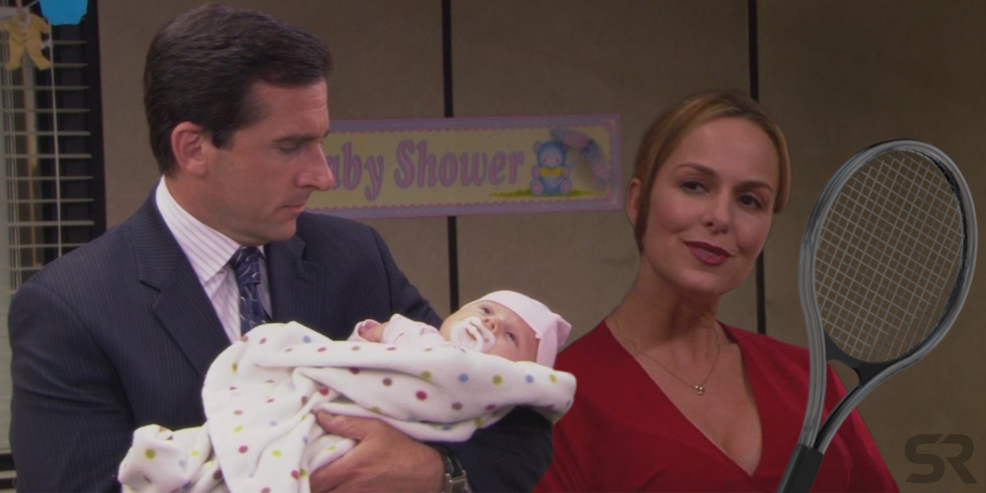 The father of Jan's baby on The Office is tennis star Andy Roddick