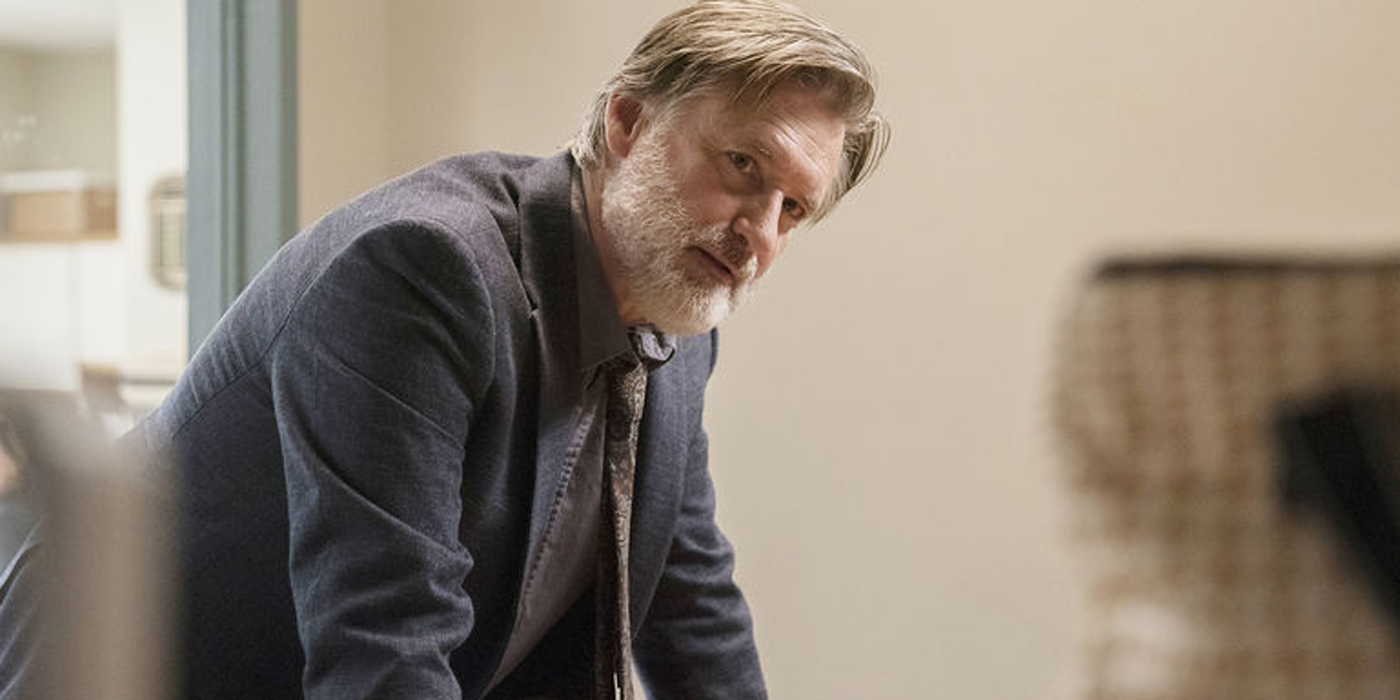 Bill Pullman is watching someone in The Sinner.