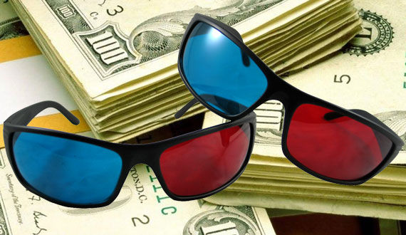 3d glasses and money Toy Story 3 Joins the Elite Billion Dollar Box Office Club