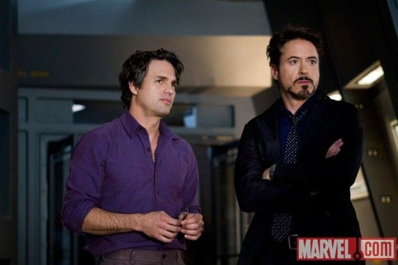 4f21ed2b00cae 570x380 Bruce Banner and Tony Stark in The Avengers