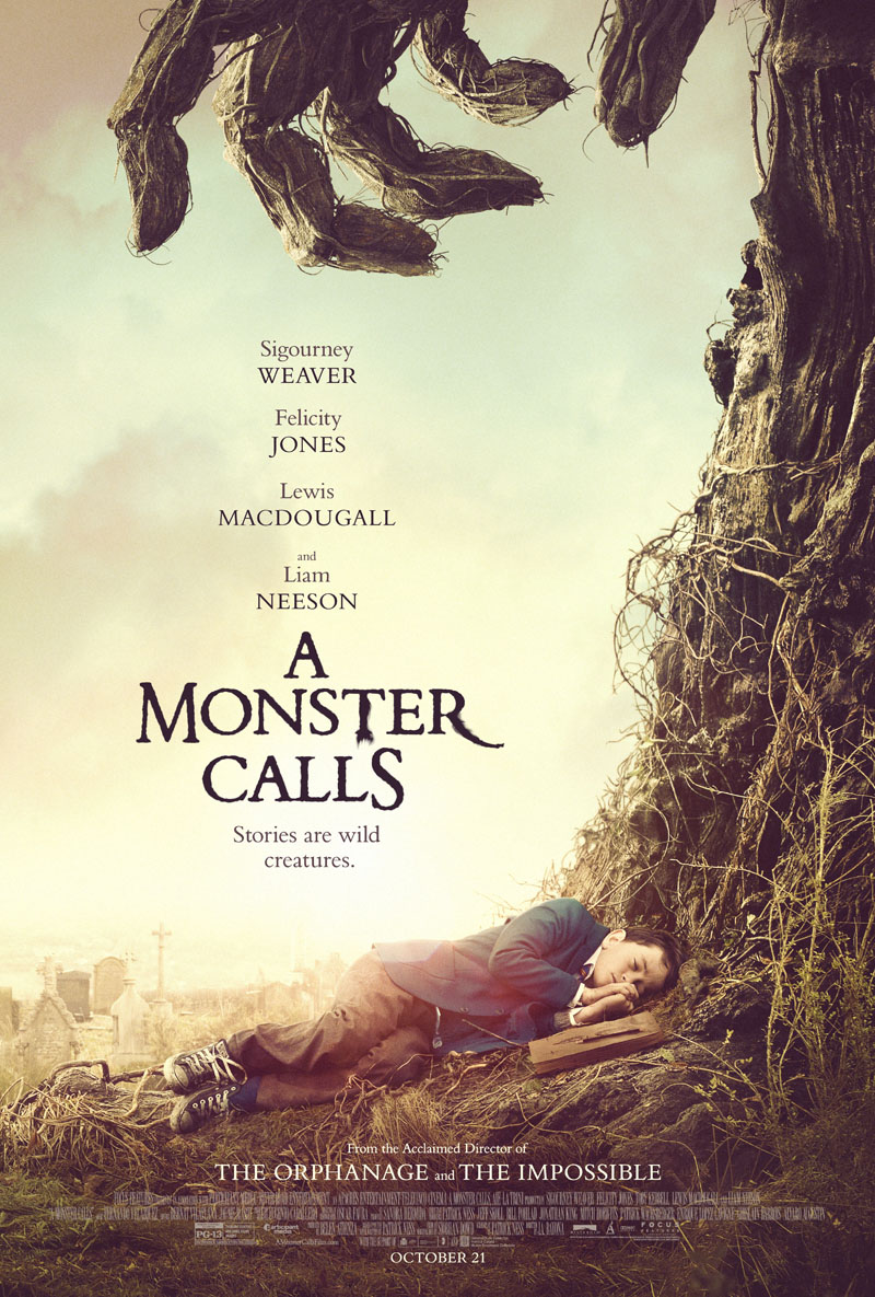 Resultado de imagen de a monster calls poster