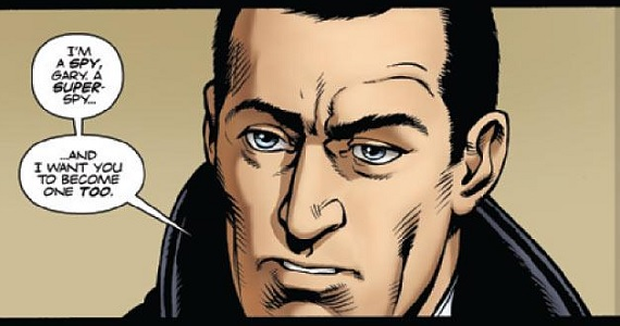 A panel from Mark Millar comic The Secret Service. The Secret Service to Star Colin Firth as Super Spy Mentor