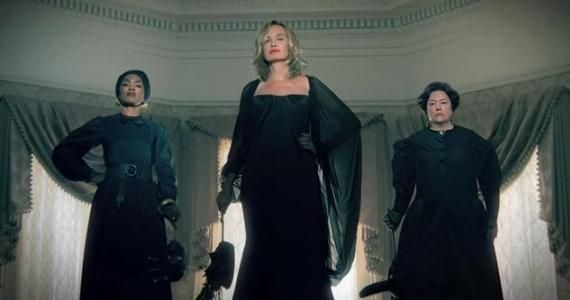 AHS Lange Bassett Bates American Horror Story: Coven Trailer: Witches At War