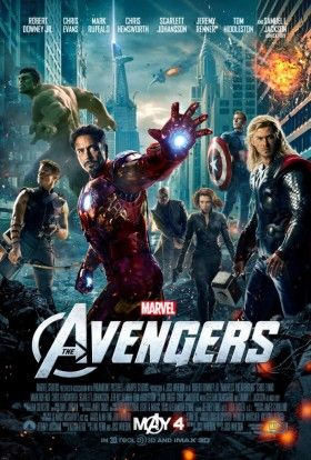 AVG Payoff 1 Sht v13 280x414 The Avengers Official Poster: Maskless Superheroes Assemble